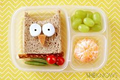 Cute!! How to make a kid's lunch that looks like an owl