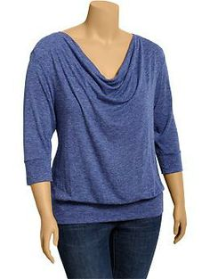 Women's Plus Heathered Cowl-Neck Tops | Old Navy