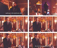 "Oliver: ""I gotta go to the washroom, Rob.""......... Digg: ""Oh, that boy's long gone, man."""
