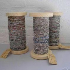 How to make newspaper yarn. Upcycle by CherOnTheGo