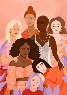 Giclee Print by Carla Ellis Art And Illustration, Illustrations, Inspiration Art, Art Inspo, Feminist Art, Aesthetic Art, Wall Collage, Cute Wallpapers, Female Art