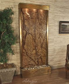 Ashton Curved Leaves Indoor Outdoor Copper Floor
