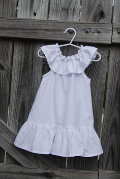Custom Boutique  Girls White Ruffle Neck  by SassyGirlBowtique, $24.00