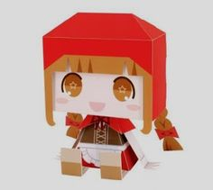 Comissioned by Canon Japan  and designed by Kaorin Minogue , from Graphig company , this is  Little Red Riding Hood paper toy in Chibi sty...