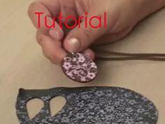Silkscreening on polymer clay video tutorial