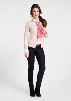 women formal wear: ankle pants, striped t-shirt  Jacob online store