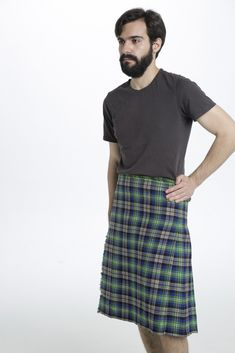 The Abel Tartan Kilt is a fun, modern kilt that can turn heads wherever you go. This kilt features vibrant, lime green squares that are accented by electric blue lines running up and down the kilt. Cream white colors help to lighten up the kilt and give it a bit more balance.  #AbelTartankilt #AbelTartan #Scottishmenkilts #KiltsForSale #Kilts #Scottishkilt