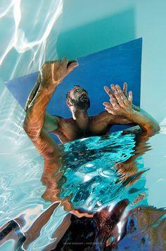 Dante's Mirror Underwater Photography Series by Valerie Morignat, San Francisco based Photographer Photography Series, Underwater Photography, Marines, Sky, Mirror, Outdoor Decor, Painting, Image, Photos