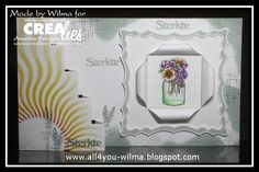 30501/1075 CraftEmotions Clearstamps A6 - Card created by Wilma van Workum