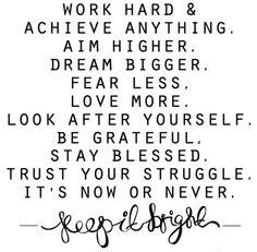 Achieve anything...