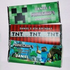 2016 valentine printable candy bar wrappers with minecraft Steve