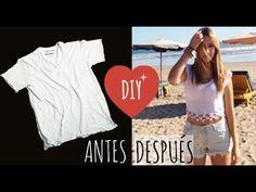 DIY Crop-Top para Verano ( Sin maquina de coser) - YouTube