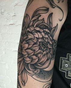 Beautiful flower arm tattoo