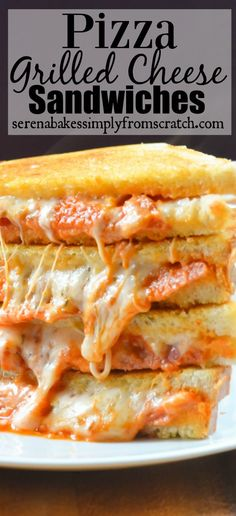 Pepperoni Pizza Grilled Cheese Sandwiches | Serena Bakes Simply From Scratch