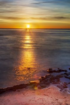 Shimmering Sea - Sunset from the Cliffs, Point Loma, San Diego, California, USA