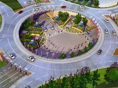 Elevated Roundabout; 14th & Old Cheney; Felsburg Holt & Ullevig