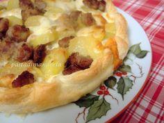 TORTA SALATA SALSICCIA E TALEGGIO #GlialloBlogs