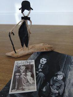 le blog de delphine : CHARLOT - Figurine en ficelle & papier sur bois ...