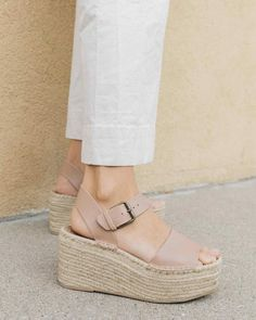 Platforms you won't dream about kicking off at days end A bit of height shouldn't keep you off your feet. Our Minorca platforms feature a cushy jute sole and ju