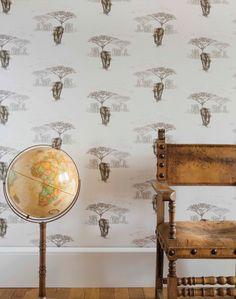 The Waterhole JTWH01 Elephant WallpaperStudy RoomsDesigner