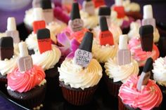 @Christine Browning--U should make these for me LOL!!!! Edible nail polish bottles toppers!!!