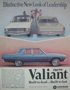 1968 VE Chrysler Valiant Sedan Models - Aussie Magazine Advertisement Funny Vintage Ads, Vintage Advertisements, Vintage Cars, Australian Cars, Australian People, Chrysler Valiant, American Stock, Plymouth Valiant, Chrysler New Yorker