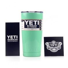 Yeti Cups Cooler 304 Stainless Steel YETI Rambler Tumbler Cup 20oz Car Vehicle Beer Mugs Light Green