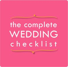 Complete Wedding Planning Checklist: 14-page Printable ...