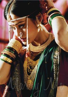 Planning a Marathi wedding ? If you are a Marathi bride or mother of the bride :) and looking for what to wear for the wedding - saree, jew. Marathi Bride, Marathi Wedding, Saree Wedding, Marathi Nath, Marathi Saree, Bridal Sarees, Desi Wedding, Wedding Bride, Pakistani