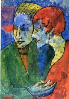 Emil Nolde - Young Couple, 1935. WikiPaintings.org