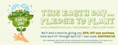 """Earth Day Sale at """"Seeds of Change"""" - 25% off your order from 4/14 through 4/23 - Organic Seeds - Home Garden, Vegetable Seeds at SeedsofChange.com"""