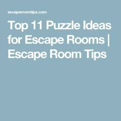 Escape rooms are a type of physical adventure game in for Escape game diy