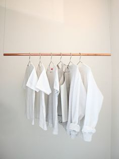 i-love-aesthetics: Here´s the tutorial on how to make this rack http://love-aesthetics.blogspot.nl/2011/09/interior-floating-clothing-rack.html