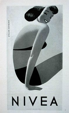 Vintage Nivea poster by allerleirau, via Flickr.