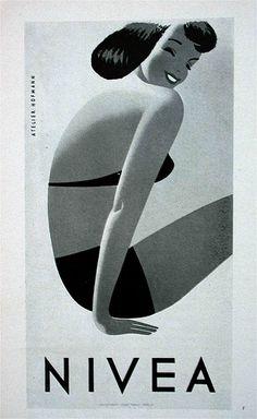 Vintage Nivea poster by allerleirau, via Flickr.