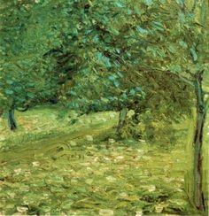 'Orchard', 1907 by Richard Gerstl (1883-1908, Austria)