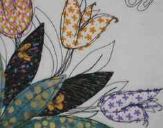 New ideas for embroidery tutorial free motion Freehand Machine Embroidery, Free Motion Embroidery, Free Machine Embroidery, Free Motion Quilting, Embroidery Applique, Paper Embroidery, Embroidery Ideas, Quilting Tutorials, Quilting Designs