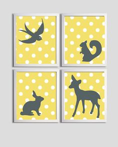 Nursery Art to girly it up but with purple or real instead of yellow