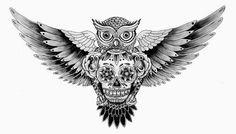 sugar skull tattoo drawings