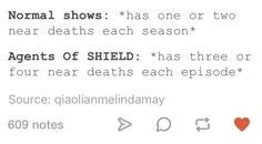 Agents of shield is so stressful
