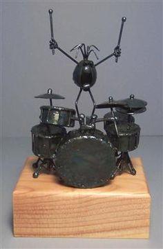 drum art | Metal art, welded art, metal artist sculpture, metal sculpture ...