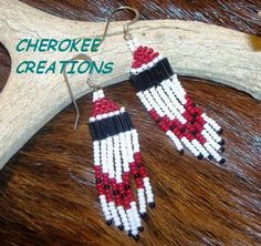 'Hand Beaded Sterling Native American Earrings' is going up for auction at  9am Tue, Aug 7 with a starting bid of $5.