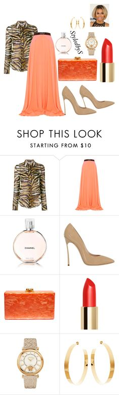 """StyledbyS"" by sforstylebys on Polyvore featuring Balmain, Roksanda, Chanel, Casadei, Edie Parker, Versace, Lana, DateNight, celebirtyinspired and officechicstyle"