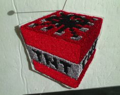 Minecraft Iron On Patch | Embroidery Iron-on Patch- Minecraft TNT - 3 inch