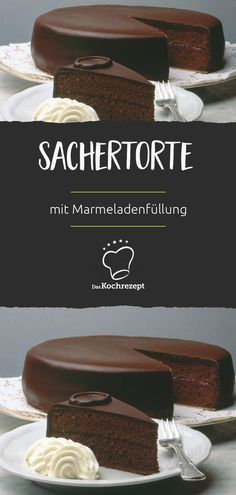 Sachertorte- You have never seen a better recipe for this classic! The dough becomes airy and light: chocolate cake with jam filling. You have never seen a better recipe for this classic! The dough becomes airy and light: chocolate cake with jam filling. Beef Pies, Mince Pies, Green Curry Chicken, Red Wine Gravy, Torte Recipe, Flaky Pastry, Halloween Desserts, Easy Desserts, Pudding Desserts