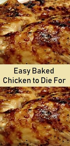 Easy Baked Chicken, Easy Chicken Recipes, Meat Recipes, Crockpot Recipes, Dinner Recipes, Cooking Recipes, Good Baked Chicken Recipes, How To Bake Chicken, Chicken
