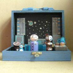 Wooden Spaceship Toy Set. Possible DIY.
