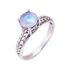 Natural Moonstone Ring Wedding Engagement 925 Solid Sterling Silver Jewelry #Handmade #Filigiri #Wedding