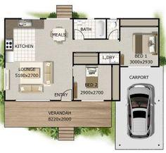 2 Bedroom + Carport kit home