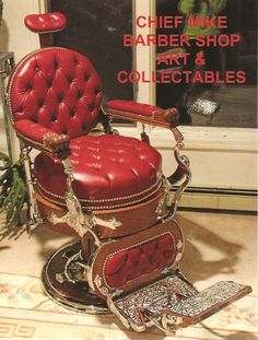 As i recall our chair looked very much like this one but black, and it was so heavy we couldn't get it down stairs to save it. Its still at the old farm house.